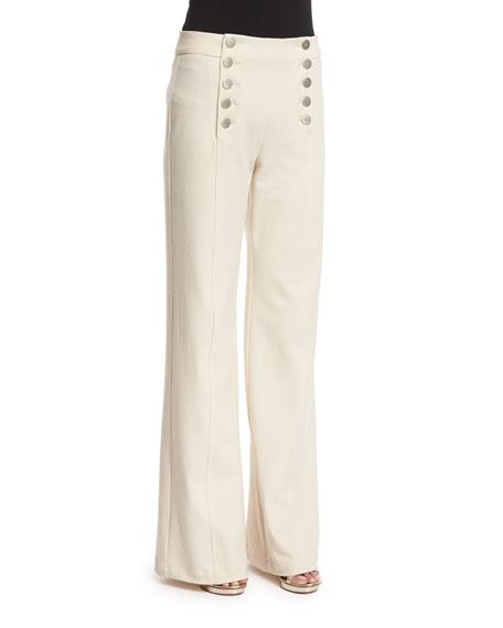 Nanette Lepore Twill Sailor Pants