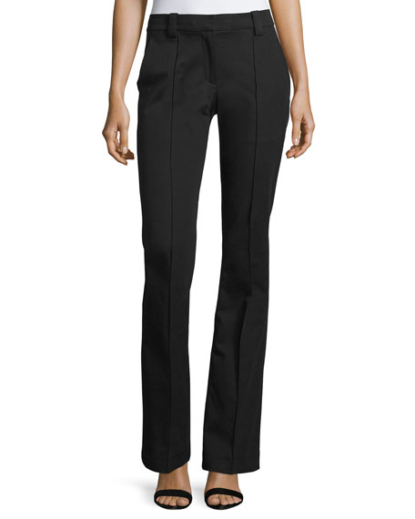 A.L.C. Joseph Boot-Cut Gabardine Pants, Black