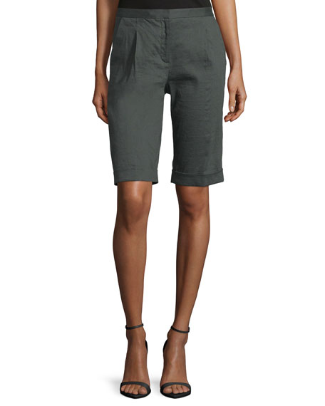 Elie Tahari City Slim-Fit Bermuda Shorts