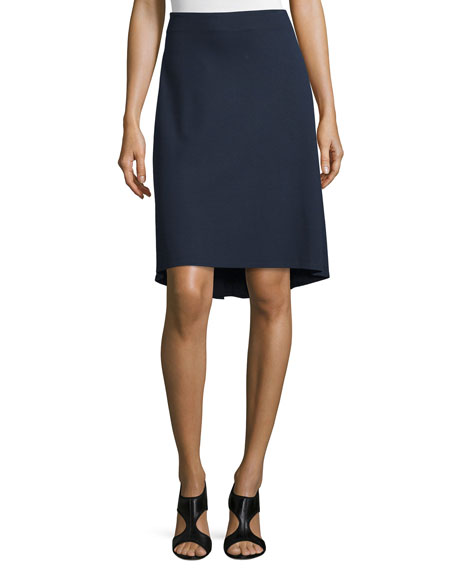 Lafayette 148 New York Dropped-Hem Knit Skirt