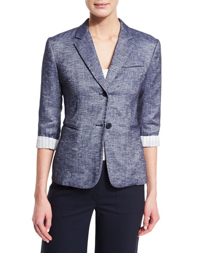 Linworth B Tierra Wash Jacket, Deep Denim