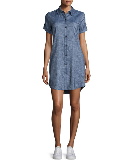 TheoryMayvine Tierra Wash Dress, Deep Denim