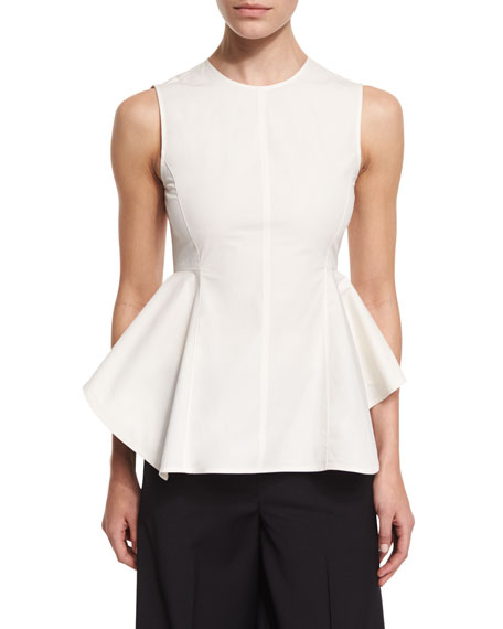TheoryKalsing Light Sculptural Peplum Top