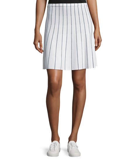 Theory Lotamee P Prosecco Striped Skirt