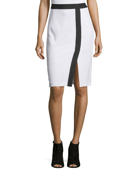 Nanette Lepore Two-Tone Pencil Skirt