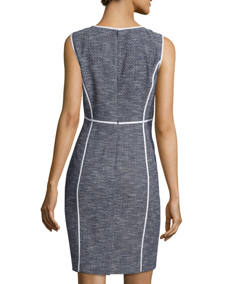 Mariana Sleeveless Tweed Sheath Dress