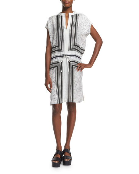 VinceScarf-Print Silk Dress