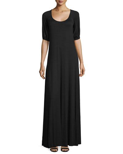 Kristi Scoop-Neck A-line Jersey Dress, Women's