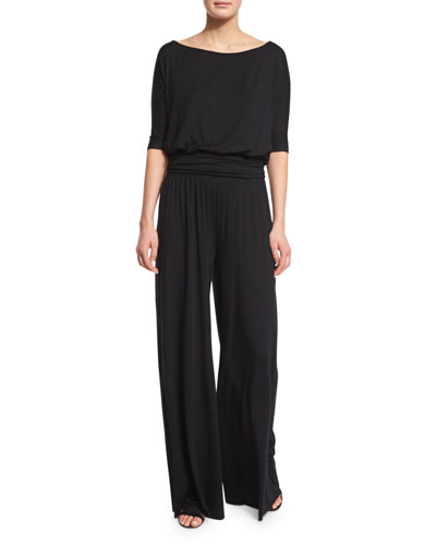 Heathcliff Half-Sleeve Jersey Jumpsuit