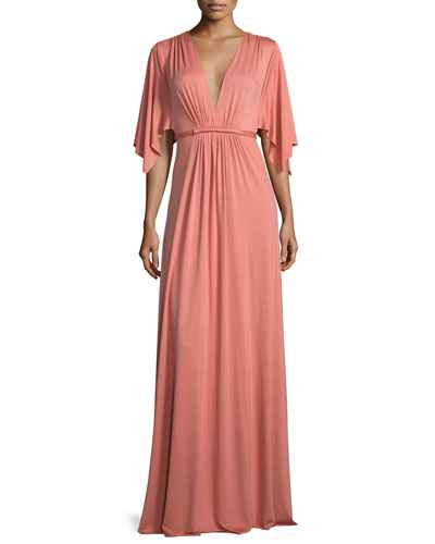 Long Jersey Caftan Dress, Mojave