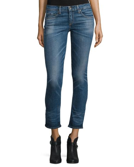 rag & bone/JEAN Tomboy Low-Rise Cropped Jeans, Roscoe