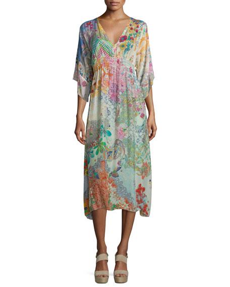 Johnny Was Collection Alyssa Printed Kimono Dress