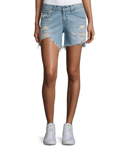 Distressed Boyfriend Denim Shorts, Dixon