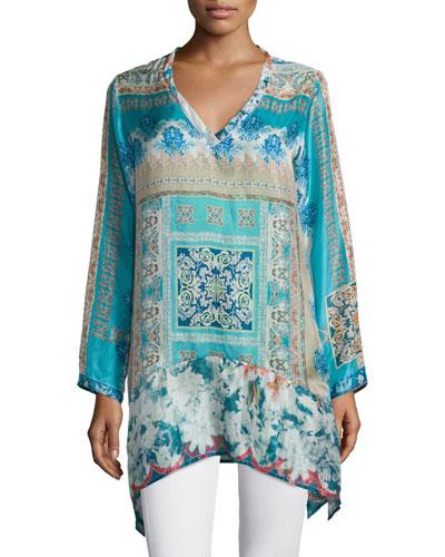 Chapman Long-Sleeve Printed Tunic, Women's