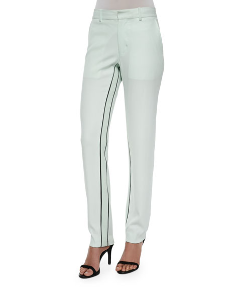 Opening Ceremony Moodie Crepe Trousers, Ceramic Green