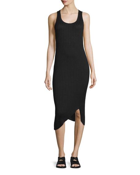 rag & bone/JEAN Sleeveless Ribbed Midi Dress, Black