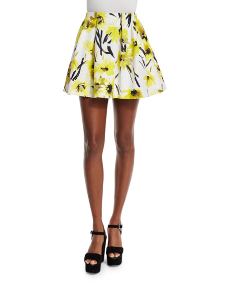 Alice + Olivia Connor Floral Lampshade Skirt, Multicolor