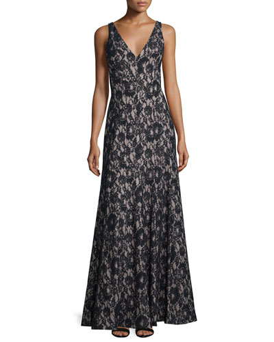 Sleeveless Lace Mermaid Gown