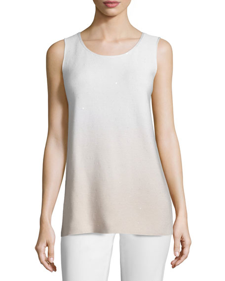 Lafayette 148 New York Round-Neck Sequined Ombre Tank,