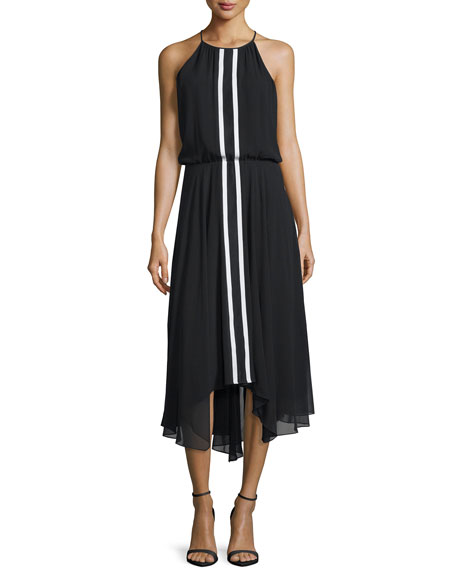 Parker Macedonia Sleeveless Midi Dress, Black