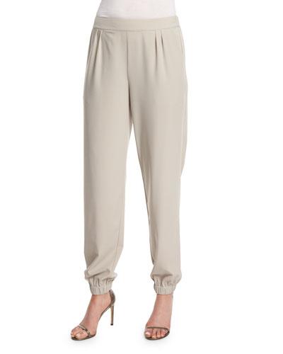 Tapered Cuff Pants, Tan