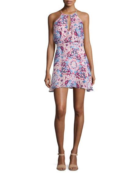 Parker Kennedy Sleeveless Floral-Print Dress, Viola