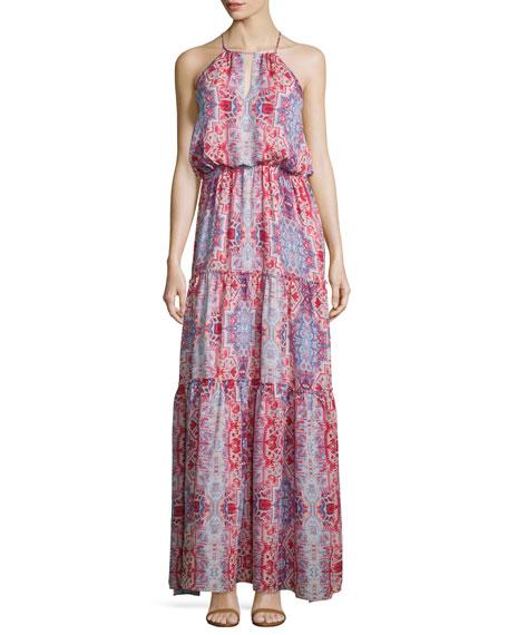 Parker Tudor Sleeveless Tiered Maxi Dress, Marmari
