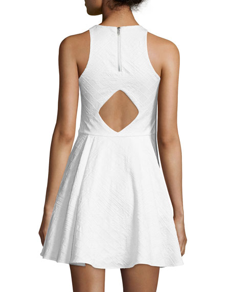 Hudson Sleeveless Fit-&-Flare Dress, White