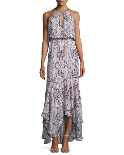 Francesca Sleeveless Printed Maxi Dress, Henna