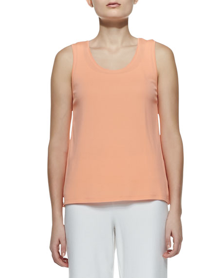 Eileen Fisher Stretch Silk Jersey Tank, Papaya