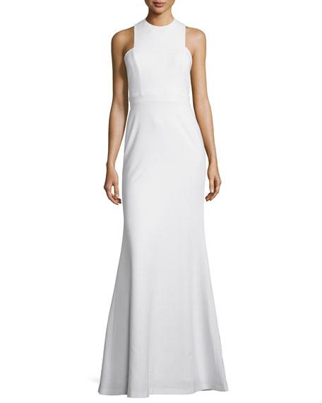 Jill Jill Stuart Sleeveless Open-Back Gown, Off White