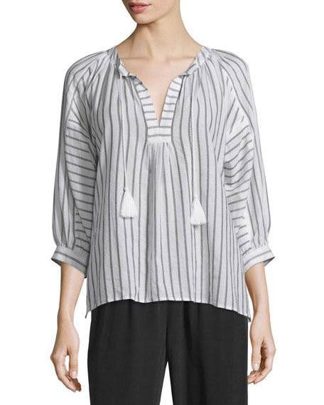 Joie Toluca Striped Cotton Top