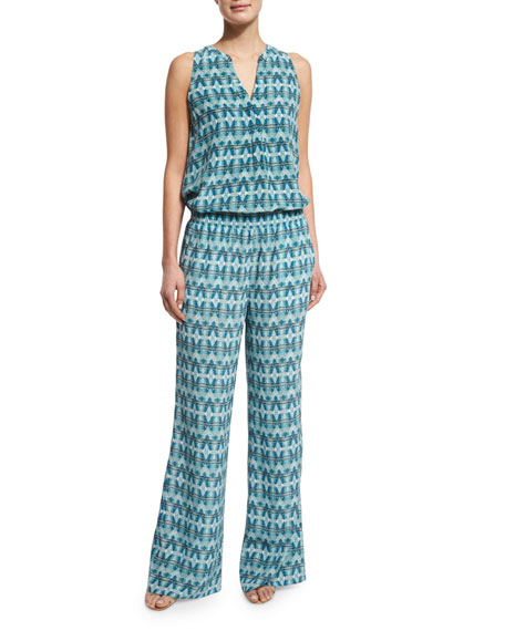 Isabeli Printed Silk Pants