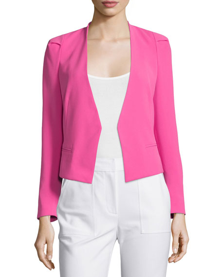 Rebecca Taylor Refined Stretch Suit Jacket, Fuchsia