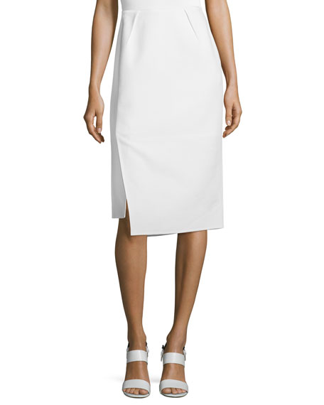 Lafayette 148 New York Sarah Asymmetric Pencil Skirt,