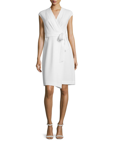 Lafayette 148 New York Grayson Cap-Sleeve Wrap Dress,