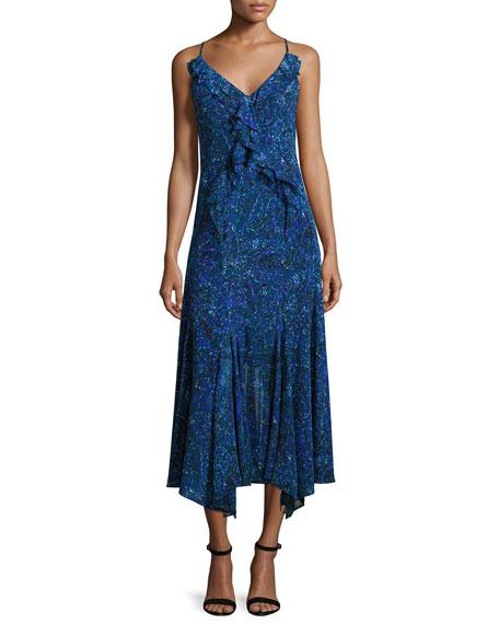 Rebecca Taylor Sleeveless Printed Chiffon Dress