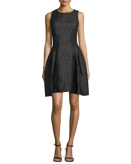 Carlyn Sleeveless Party Dress, Black