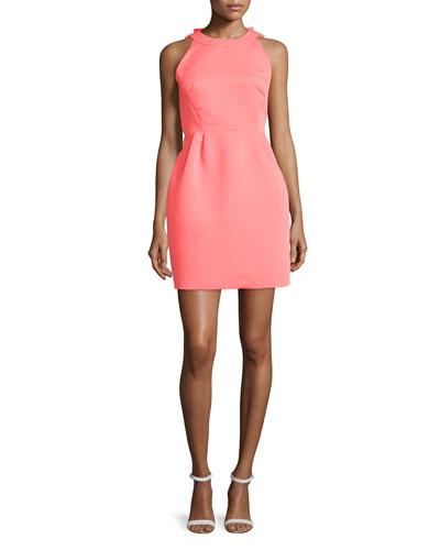 sleeveless open-back cupcake dress, surprise coral