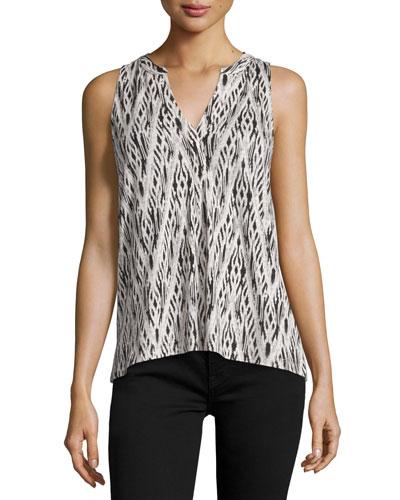Lysette Printed Sleeveless Top