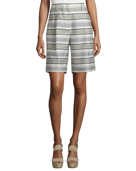 Rivington Striped Shorts, Mica/Multi