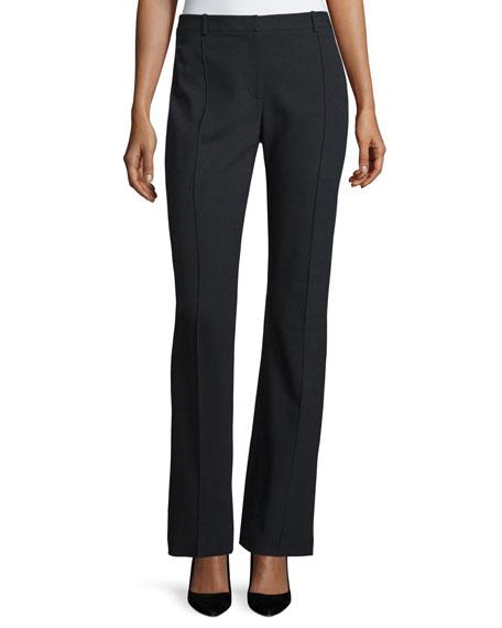 Halston Heritage Mid-Rise Flare-Leg Trousers, Black