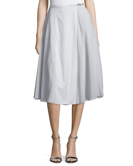 Halston Heritage Mid-Rise Flowy Skirt, Vapor
