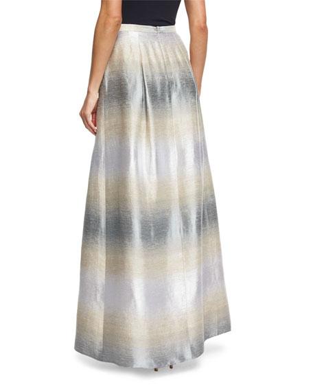 Striped Jacquard Full Ball Skirt