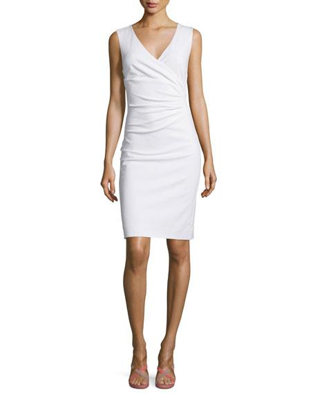 Diane von Furstenberg Layne Ruched Sheath Dress, White