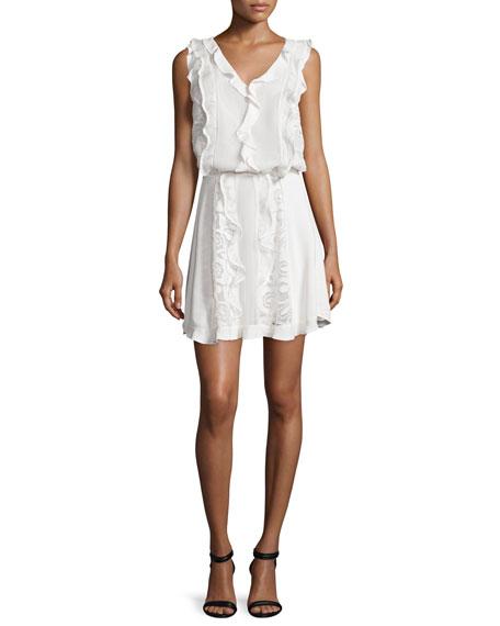 Alexis Celina Macrame Blouson Dress, White