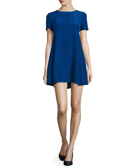 Amanda UprichardWinthrop Short-Sleeve Mini Dress, Ultramarine
