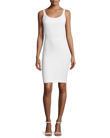 Amanda Uprichard Cubano Sleeveless Sheath Dress, Ivory