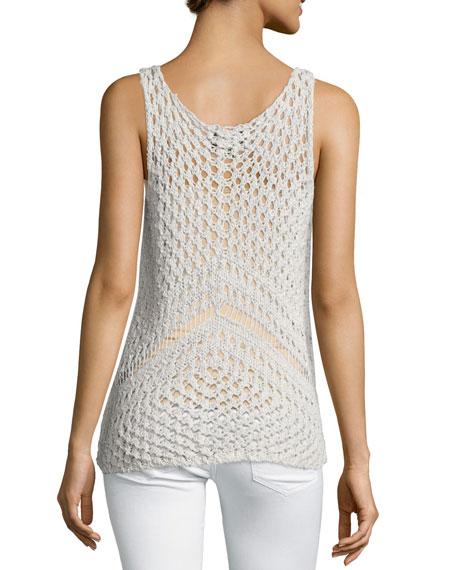 Sasha Sleeveless Crochet Top, Nougat