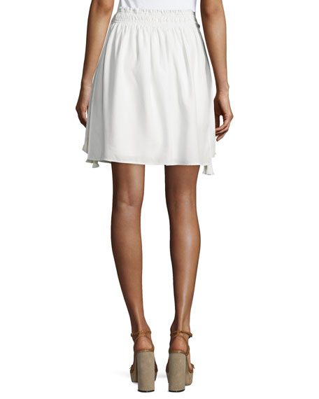 Assisi Short Wabi Skirt, Stripe